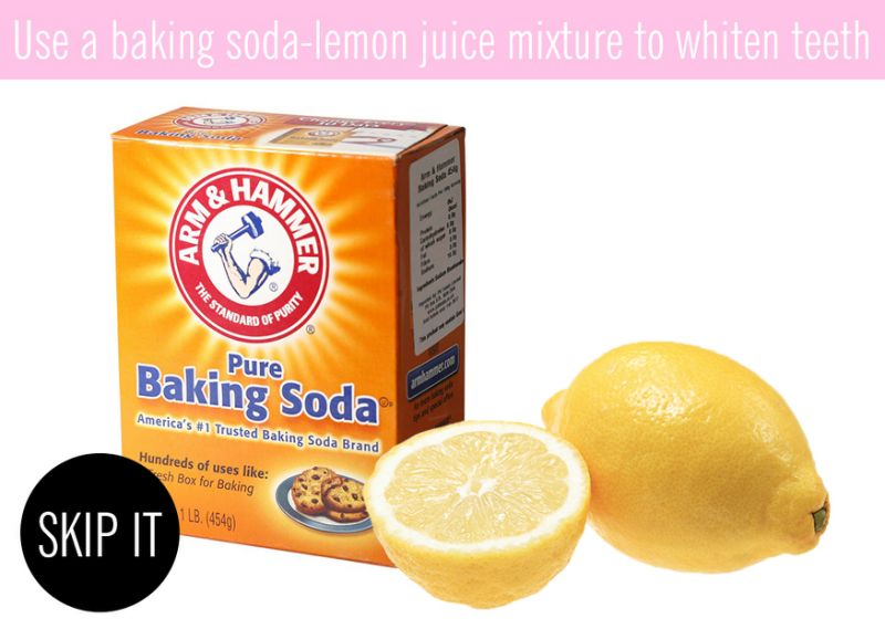 Use a baking soda lemon juice mixture to whiten teeth